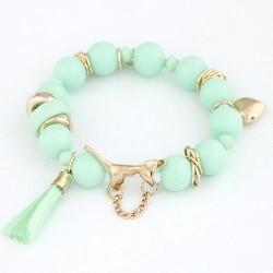 Zöld gyöngyös charm karkötő