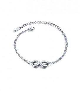 Infinity, kétsoros nemesacél karkötő