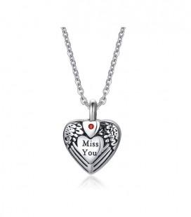 Szív alakú urna medál nyaklánccal
