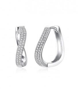 Infinity, kristályos fülbevaló ródium bevonattal