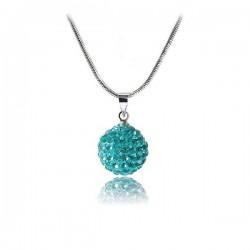 Shamballa nyaklánc türkiz kristályokkal