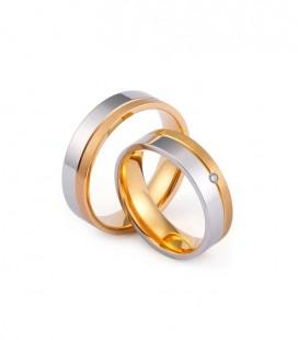 Apró köves női nemesacél karikagyűrű