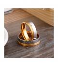 Nemesacél férfi karikagyűrű, arany-ezüst színben