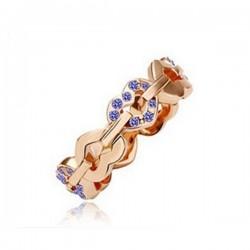 kristályos gyűrű Apró köves szív gyűrű - Kék