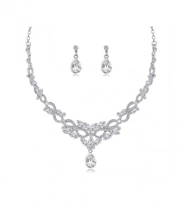 Infinity, esküvői ékszerszett kristályokkal