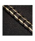 Arany sávos, mágneses nemesacél karkötő germániummal - matt fekete