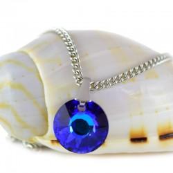 kristályos nyaklánc Zafírkék Swarovski kristályos kör nyaklánc