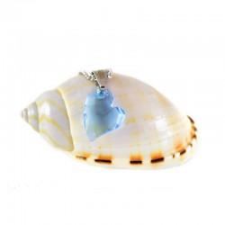 kristályos nyaklánc Világoskék Swarovski kristályos szív