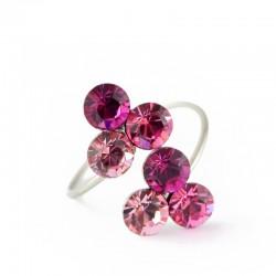 nemesacél gyűrű Pink szeder nemesacél gyűrű, Swarovski