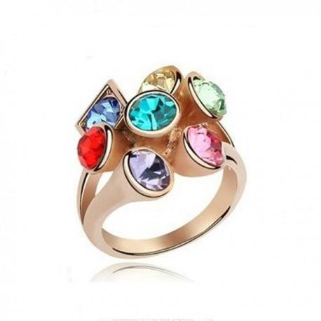 kristályos gyűrű Színes, egyedi formájú különleges gyűrű