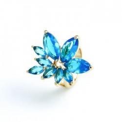 Gold filled kristályvirág gyűrű