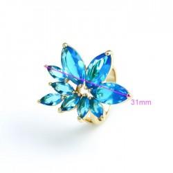 kristályos gyűrű Gold filled kristályvirág gyűrű