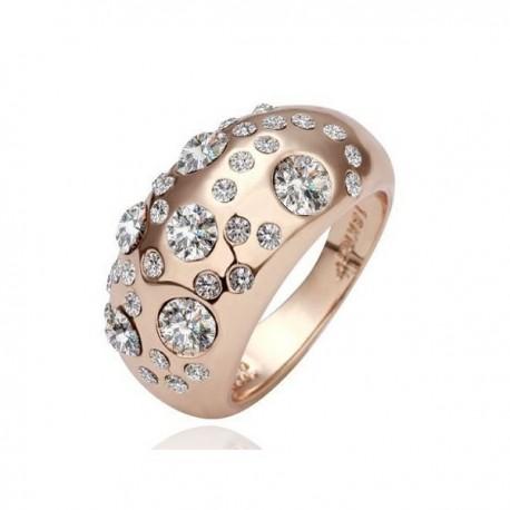 kristályos gyűrű Csillogó, fehér köves koktélgyűrű