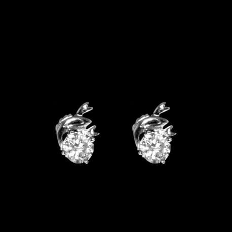 ezüst fülbevaló Ezüst fülbevaló cirkónia kővel