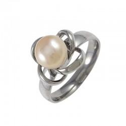 Gyöngyvirág nemesacél gyűrű