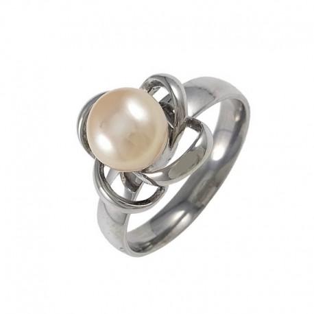 nemesacél gyűrű Gyöngyvirág nemesacél gyűrű