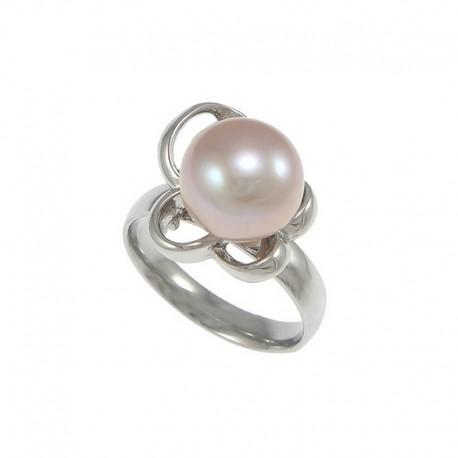 nemesacél gyűrű Nemesacél gyűrű gyöngy díszítéssel