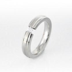 nemesacél gyűrű Apró cirkónia köves nemesacél gyűrű