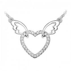 kristályos nyaklánc Fehér kristályos szív nyaklánc