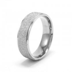 Ezüst szemcsés nemesacél gyűrű